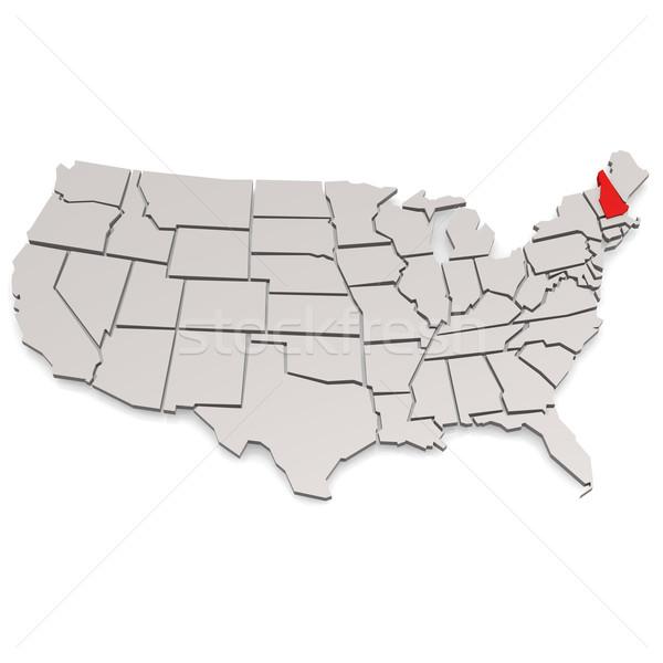 New Hampshire görüntü render kullanılmış grafik tasarım Stok fotoğraf © tang90246