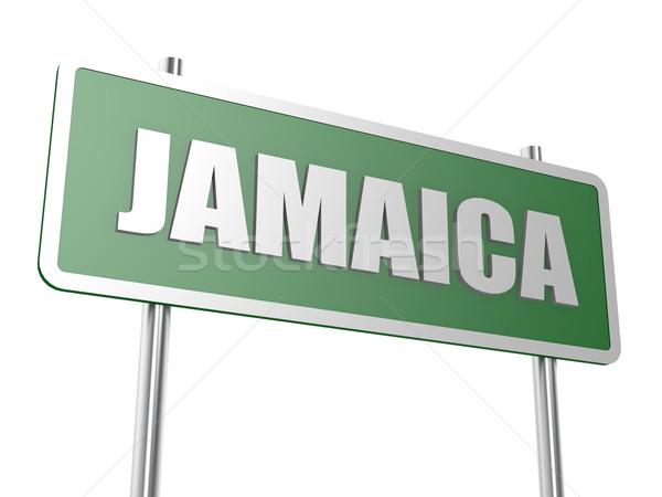 Jamaika görüntü render kullanılmış grafik tasarım Stok fotoğraf © tang90246