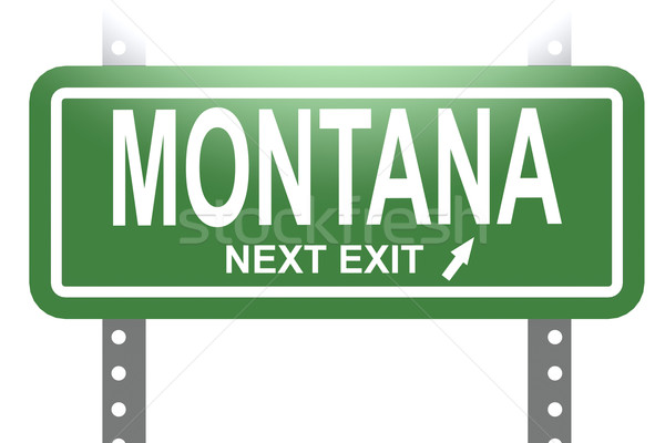 Montana green sign board isolated  Stock photo © tang90246