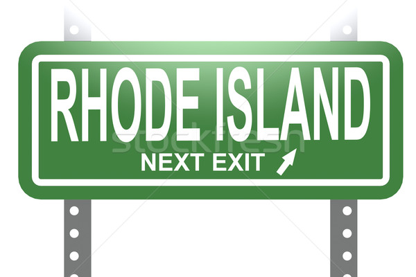 Rhode Island green sign board isolated  Stock photo © tang90246