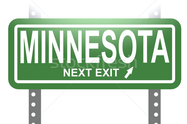 Minnesota green sign board isolated Stock photo © tang90246