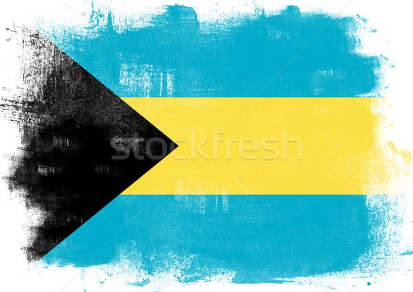 Flagge Bahamas gemalt Pinsel solide abstrakten Stock foto © tang90246