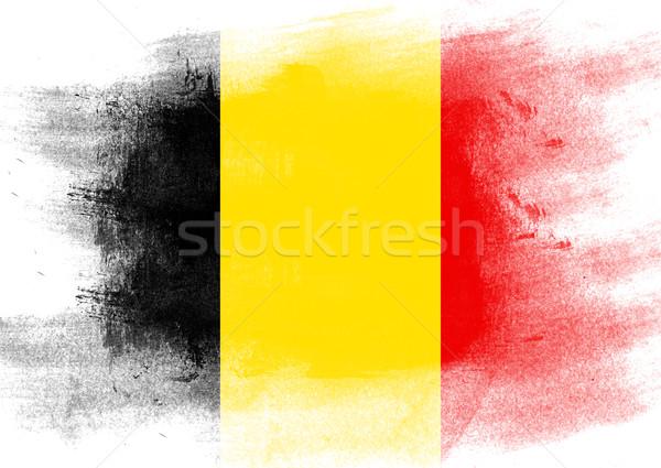 フラグ ベルギー 描いた ブラシ 固体 抽象的な ストックフォト © tang90246