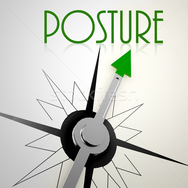 Posture on green compass Stock photo © tang90246