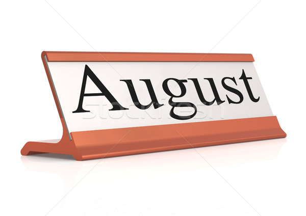 August word on table tag isolated  Stock photo © tang90246