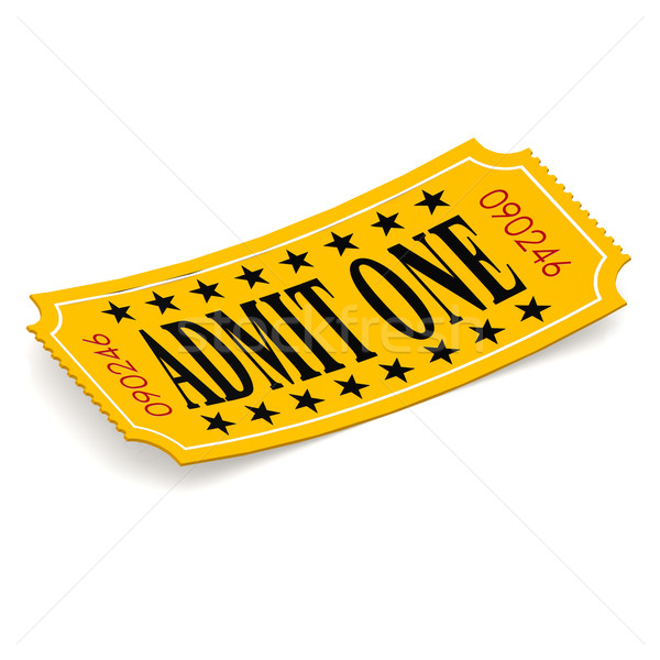 Admit one ticket on white background Stock photo © tang90246