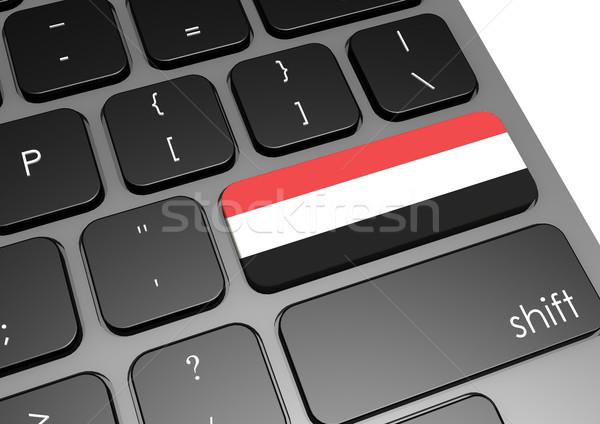 Jemen toetsenbord afbeelding gerenderd gebruikt Stockfoto © tang90246