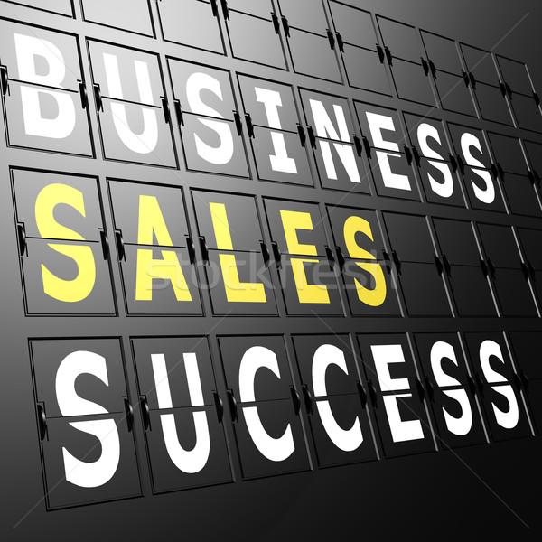Airport display business sales success Stock photo © tang90246