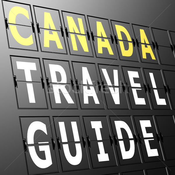 Airport display Canada travel guide Stock photo © tang90246