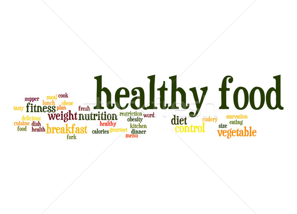 Healthy food word cloud Stock photo © tang90246