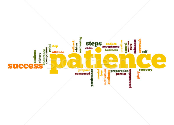 Patience word cloud Stock photo © tang90246