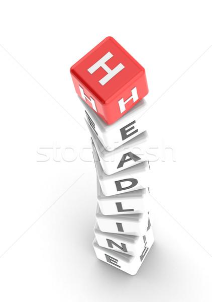 Headline puzzle word Stock photo © tang90246