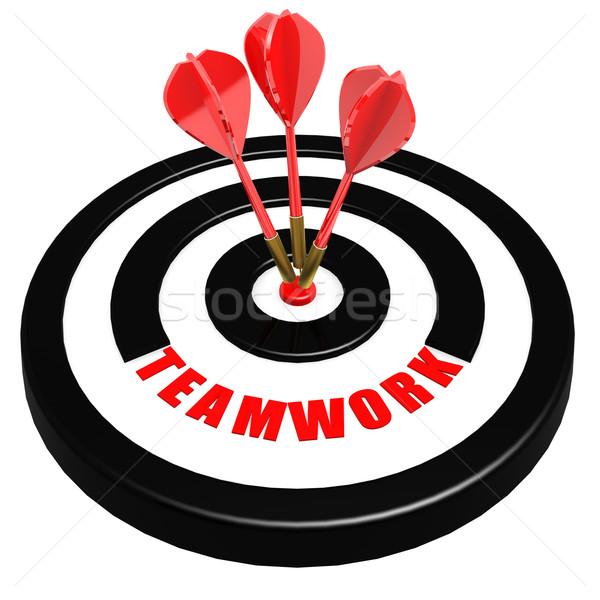 Teamwork dart board Stock photo © tang90246