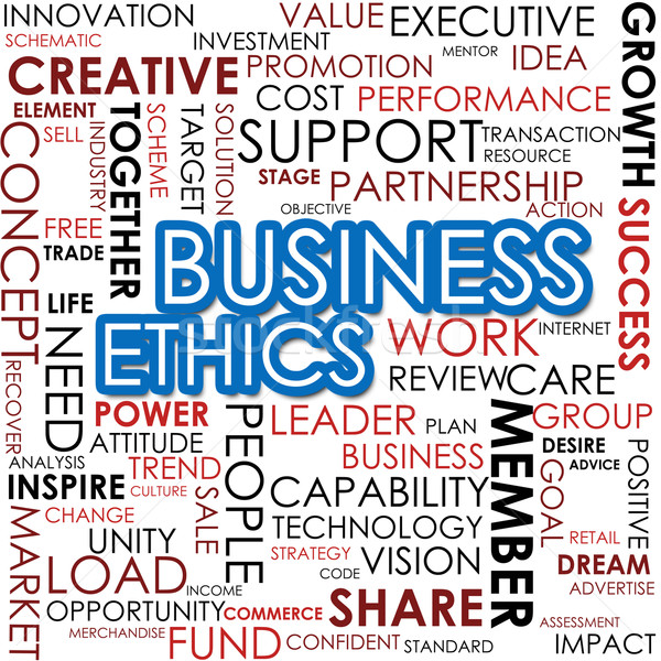 Business ethics word cloud cloud image Stock photo © tang90246