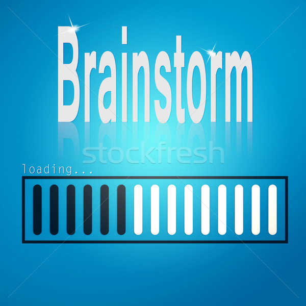 Brainstorm blue loading bar Stock photo © tang90246