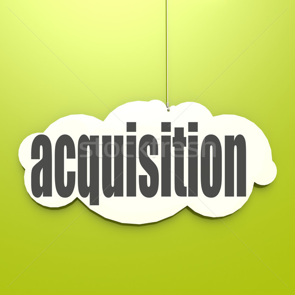 White cloud with acquisition Stock photo © tang90246