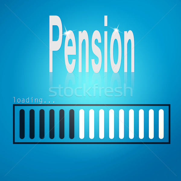 Stock photo: Pension blue loading bar