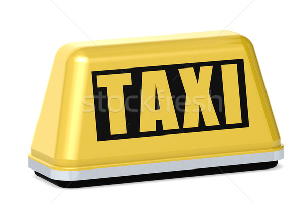 Yellow taxi sign isolated Stock photo © tang90246
