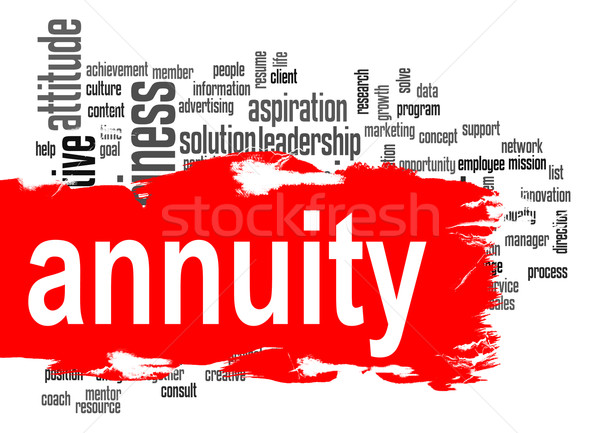 Annuity word cloud with red banner Stock photo © tang90246