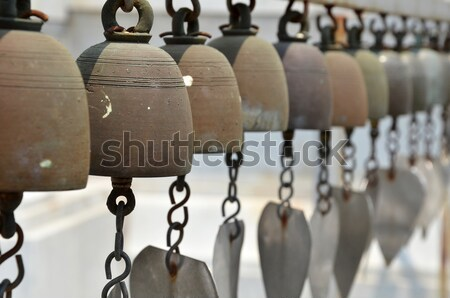 Vintage tone holy bell of ceremony in temple, Thailand Stock photo © tang90246