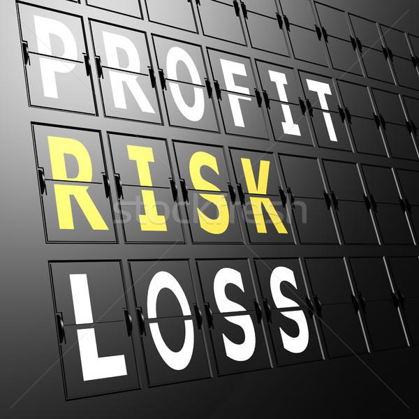 Airport display profit risk loss Stock photo © tang90246