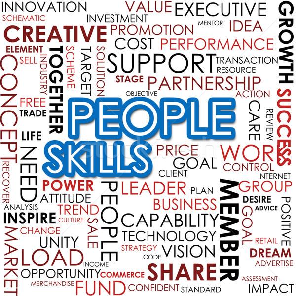 Persone abilità word cloud business lavoro vita Foto d'archivio © tang90246