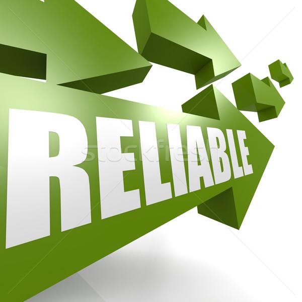 Confiável seta verde negócio trabalhar fundo Foto stock © tang90246