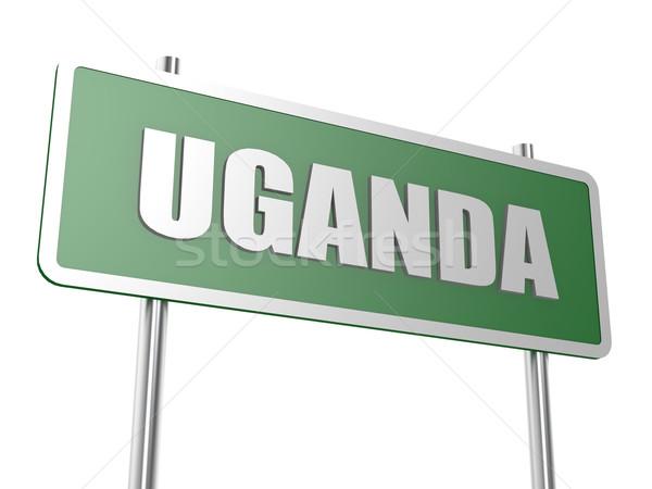 Uganda kép renderelt mű használt grafikai tervezés Stock fotó © tang90246