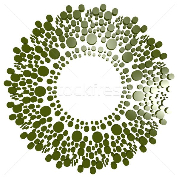 Zielone kółko kropka obraz świadczonych Zdjęcia stock © tang90246