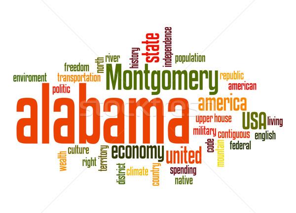 Alabama kelime bulutu bulut özgürlük tarih grafik Stok fotoğraf © tang90246