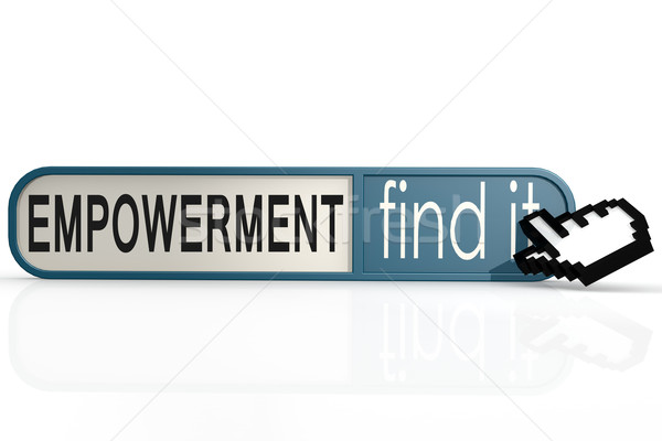 Empowerment word on the blue find it banner Stock photo © tang90246