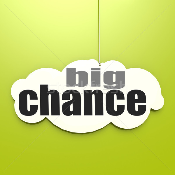 White cloud with big chance Stock photo © tang90246