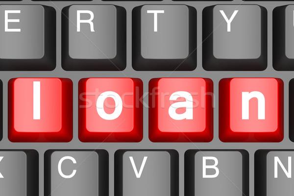 Stockfoto: Rood · lening · knop · moderne · afbeelding