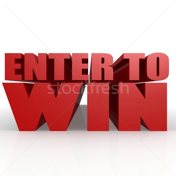 Enter to win Stock photo © tang90246