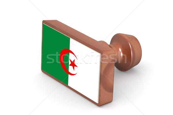 Carimbo Argélia bandeira imagem prestados Foto stock © tang90246