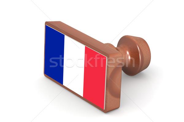 Carimbo França bandeira imagem prestados Foto stock © tang90246