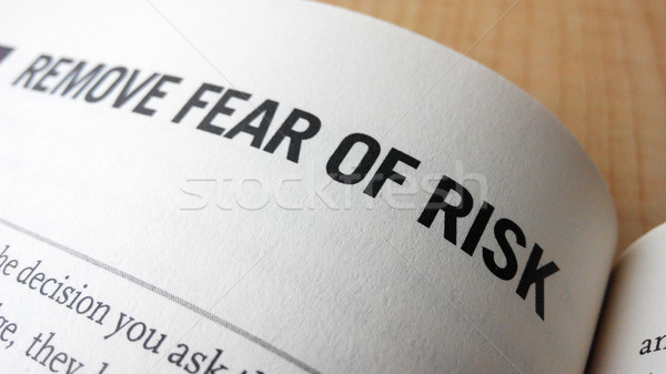 Fear of risk word on a book Stock photo © tang90246