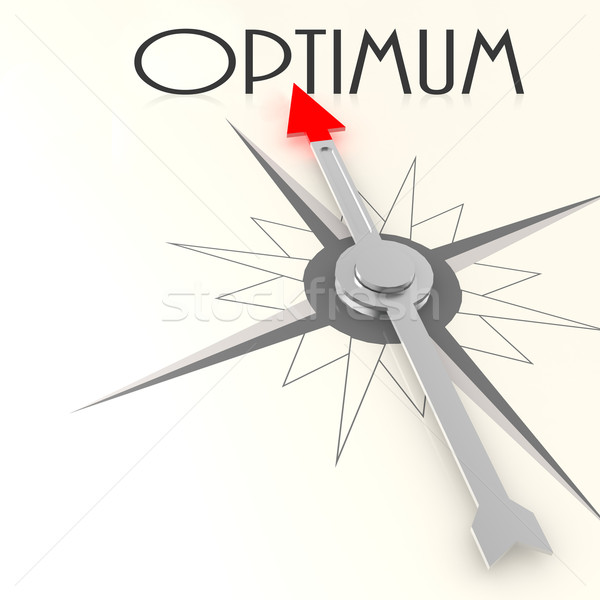 Compass with optimum word Stock photo © tang90246