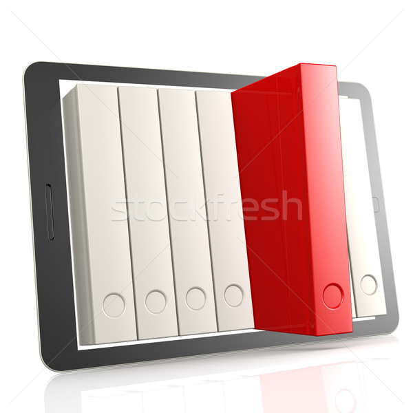 Red book and tablet Stock photo © tang90246
