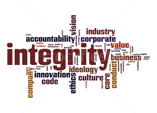 Integrity word cloud Stock photo © tang90246