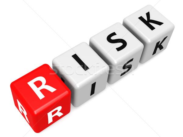 Piros kockázat divatszó üzlet levél puzzle Stock fotó © tang90246