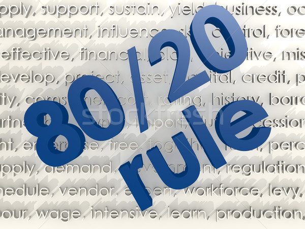 The 80 20 rule Stock photo © tang90246