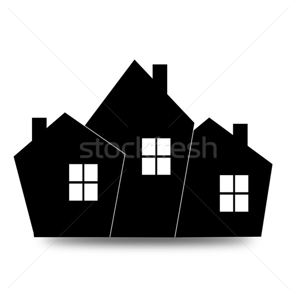 Black house icon Stock photo © tang90246