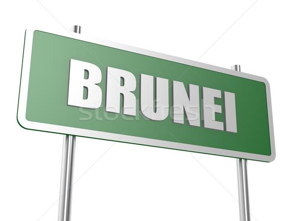 Brunei afbeelding gerenderd gebruikt grafisch ontwerp Stockfoto © tang90246