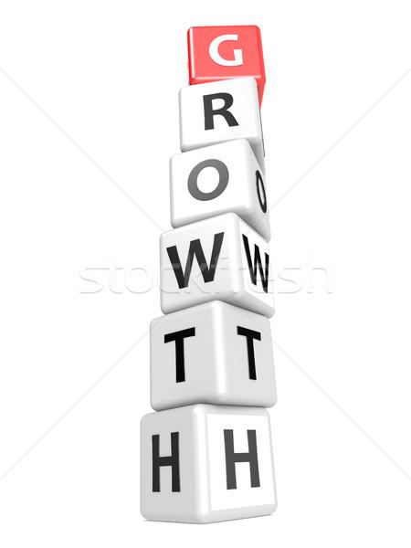 Divatszó növekedés kép renderelt mű használt Stock fotó © tang90246