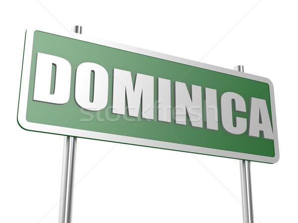 Dominica imagem prestados usado design gráfico Foto stock © tang90246