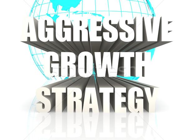 Agressief groei strategie business ontwerp financieren Stockfoto © tang90246