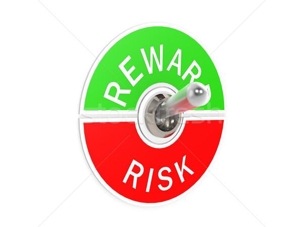 Kockázat jutalom kapcsoló üzlet kéz épület Stock fotó © tang90246