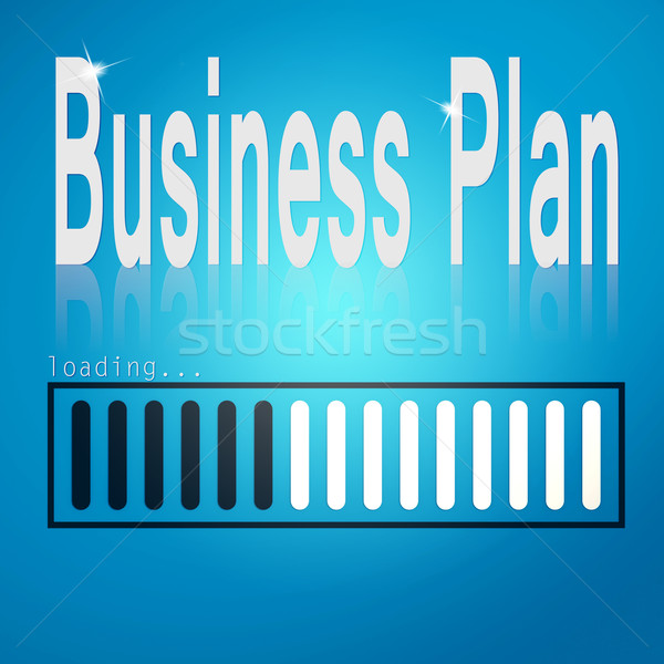 Business plan blue loading bar Stock photo © tang90246