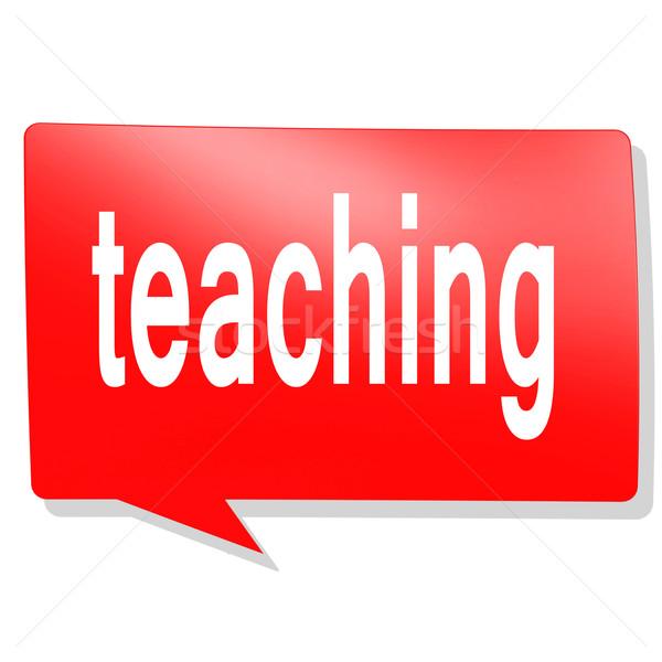 Ensino palavra vermelho balão de fala imagem prestados Foto stock © tang90246